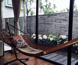 hammock, home, and summer image