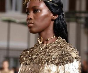 fashion, Valentino, and gold image