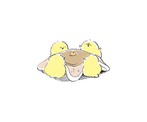 cute, chicks, and yellow image