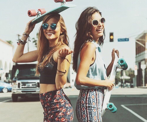 skate, summer, and smile image