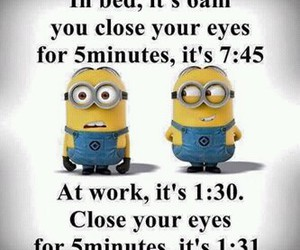 funny, minions, and work image