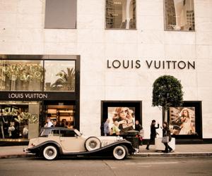 Louis Vuitton, car, and vintage image