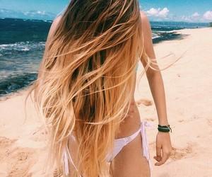hair, summer, and beach image