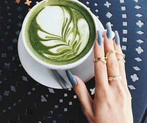 nails, coffee, and drink image