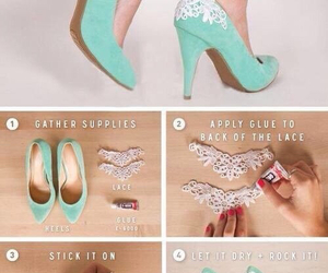 diy, shoes, and lace image