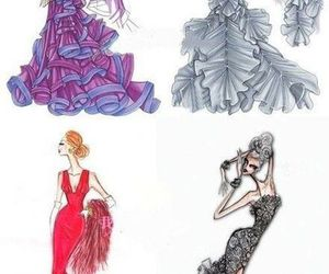 dress, drawing, and style image