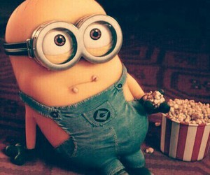 minions, popcorn, and yellow image