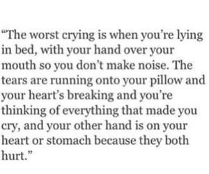 crying, sad, and sadness image