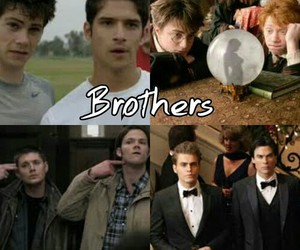 brothers, boy, and harry potter image