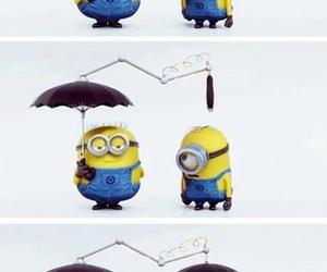 minions, friends, and umbrella image