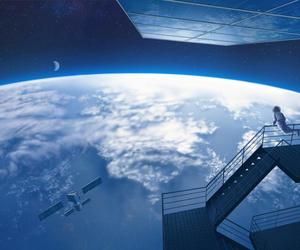 anime, anime scenery, and astronaut image