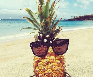 beach, summer, and pineapple image
