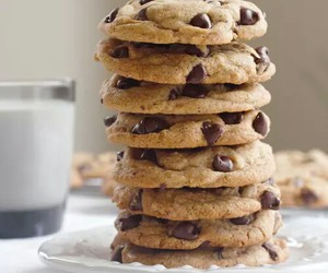 Cookies, chocolate, and milk image