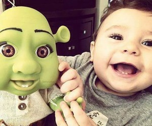 baby, cute, and shrek image