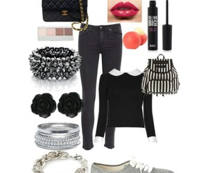 accessories, makeup, and outfit image