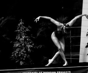 black&white and synchronized swimming image