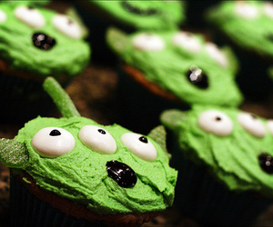 cupcake, toy story, and alien image