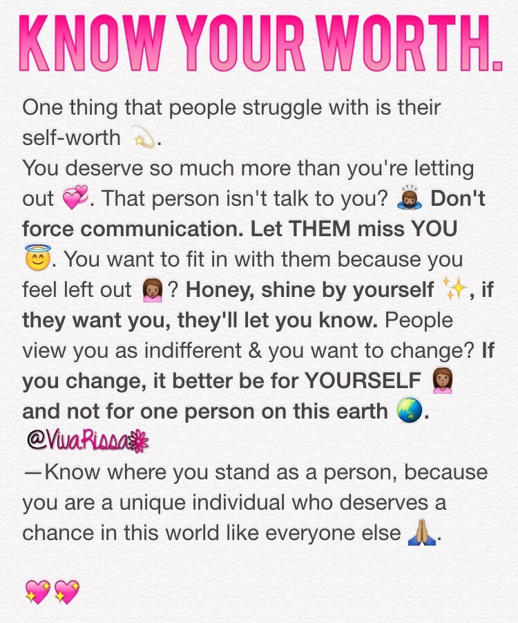 post, value, and self worth image