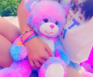 bear, pink, and pastel image