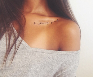 girl, quote, and smalltattoos image