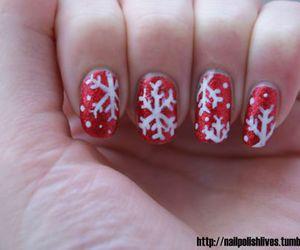 nails and snowflake image