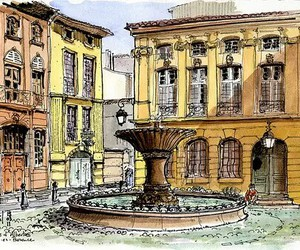 art, building, and drawing image