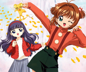 sakura card captor, sakura, and tomoyo image