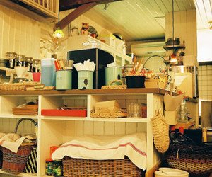 cafe, kitchen, and coffee image
