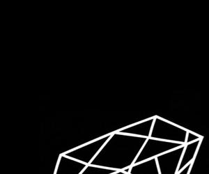 back, black, and diamond image