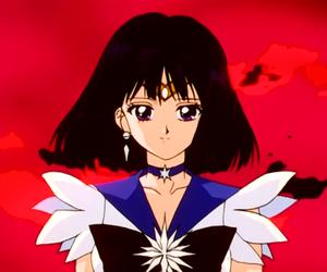 sailor saturn, sailor moon, and hotaru tomoe image