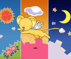 anime, kero, and sakura card captor image