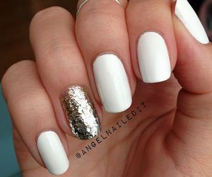 nails, beauty, and white image