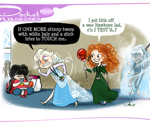merida, elsa, and pocket princesses image
