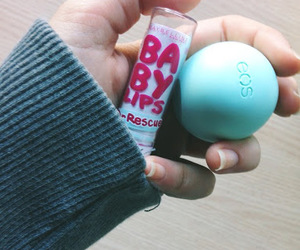 eos, babylips, and blue image