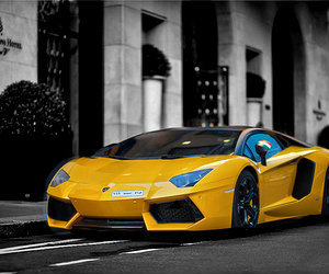 yellow, car, and lifestyle image