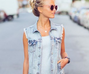 outfit, denim, and style image