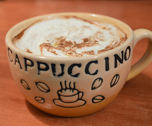 blog, cappuccino, and coffee image