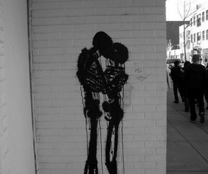 love, art, and skeleton image