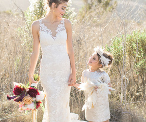 bride, flower, and girl image