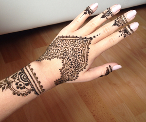 henna, fashion, and nails image