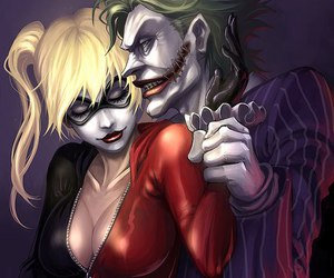 blonde, harley quinn, and love image
