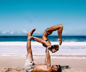couple, love, and yoga image
