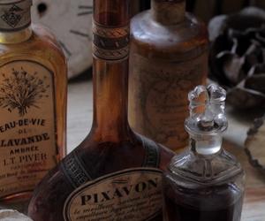 potion, bottle, and perfume image