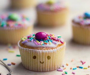 cupcake, sweet, and smile image