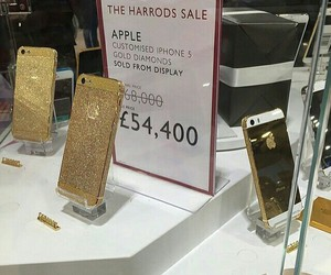 apple, harrods, and iphone image