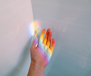rainbow, hand, and tumblr image