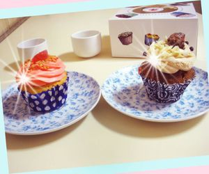 cupcakes, sweet, and food image