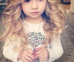 hair, baby, and blonde image
