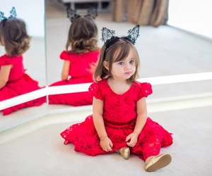 baby, pretty, and red image