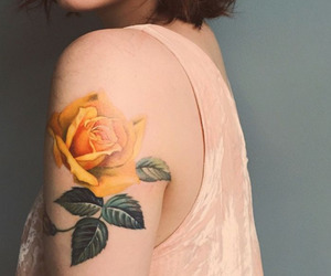 ink, inked, and yellow image
